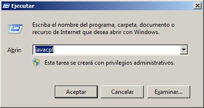 Versión de Java 1.8_074 o superior.